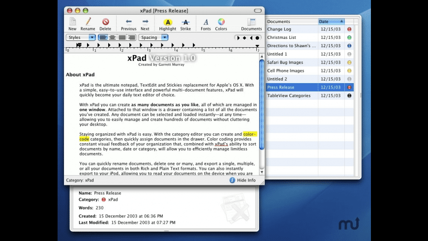 xPad for Mac - review, screenshots