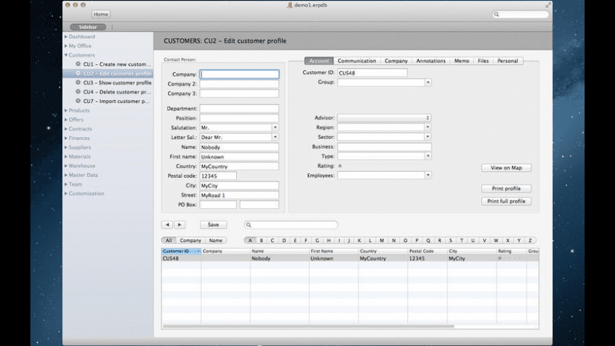 Philasmicos ERP for Mac - review, screenshots