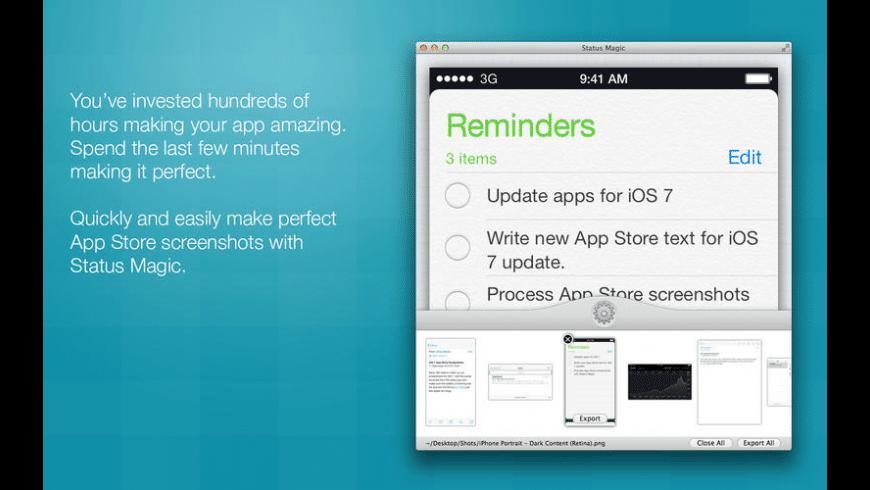 Status Magic for Mac - review, screenshots