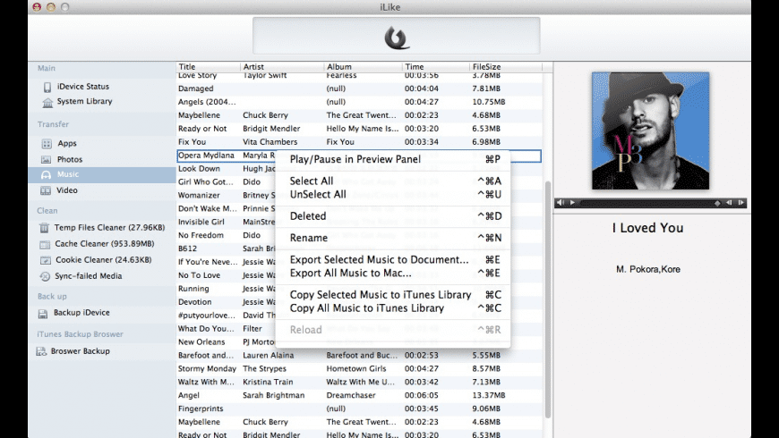 iLike for Mac - review, screenshots