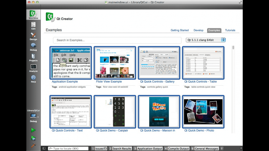 Qt Cross-Platform Framework for Mac - review, screenshots