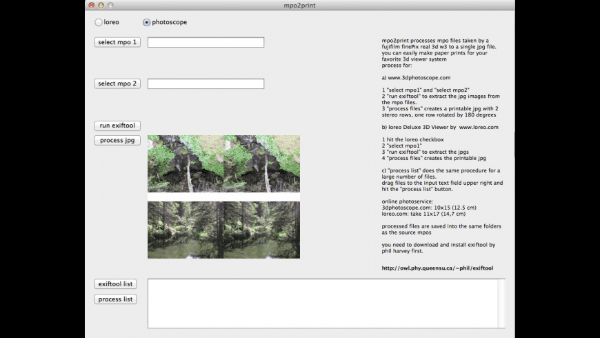 mpo2print for Mac - review, screenshots
