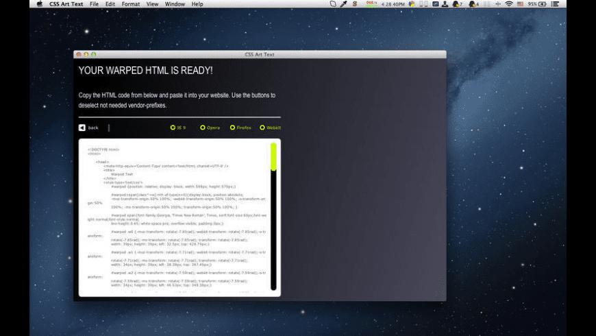 CSS Art Text for Mac - review, screenshots