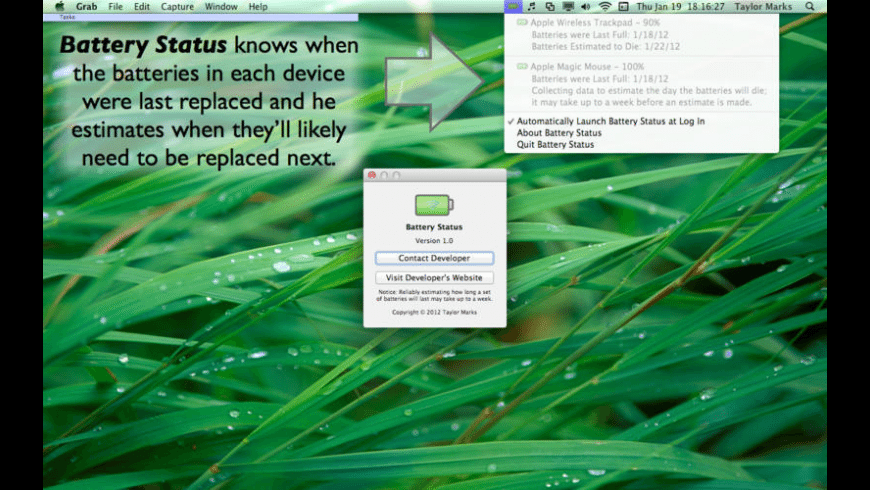 Battery Status for Mac - review, screenshots