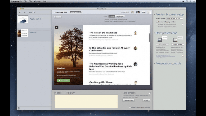 Presentable for Mac - review, screenshots