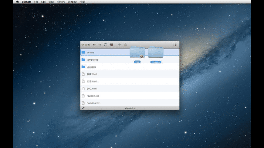Buckets for Mac - review, screenshots