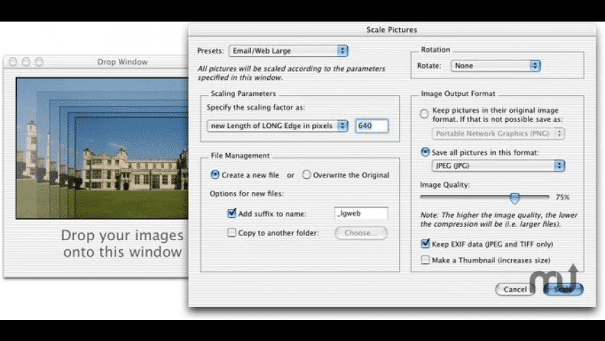 PictureScaler for Mac - review, screenshots