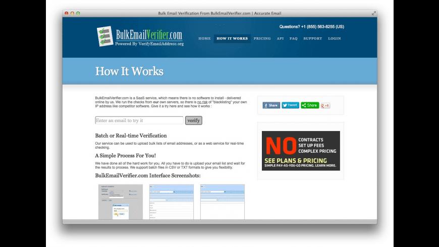 Verify Email for Mac - review, screenshots