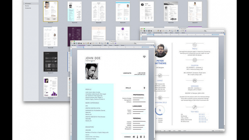 Resume & CV Expert for Mac - review, screenshots