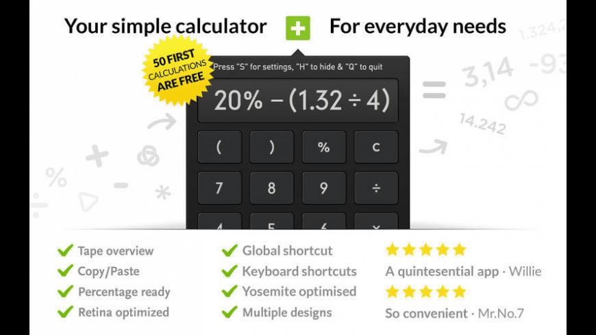 Calculator for Mac - review, screenshots