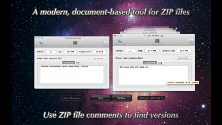 EtreZip for Mac - review, screenshots