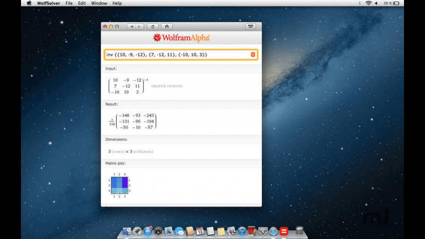 Wolf-Solver for Mac - review, screenshots