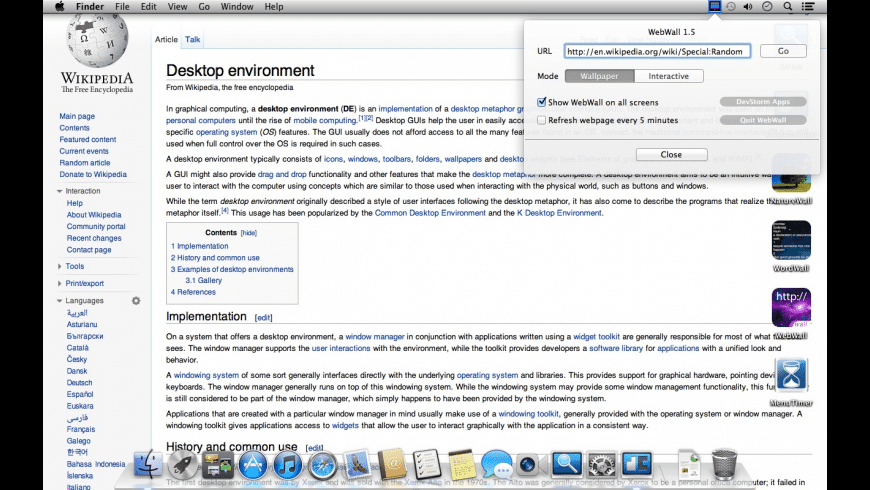WebWall for Mac - review, screenshots