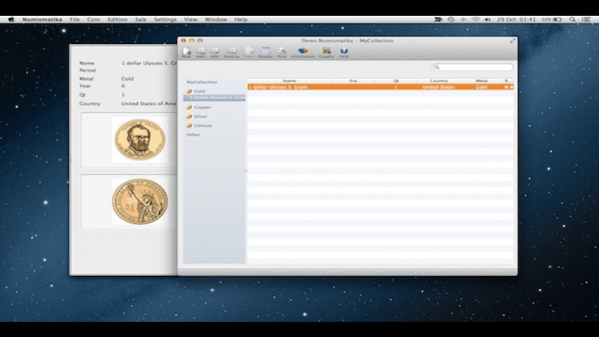 Numismatika for Mac - review, screenshots