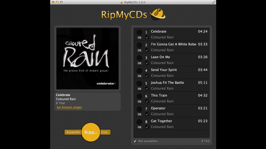 RipMyCDs for Mac - review, screenshots