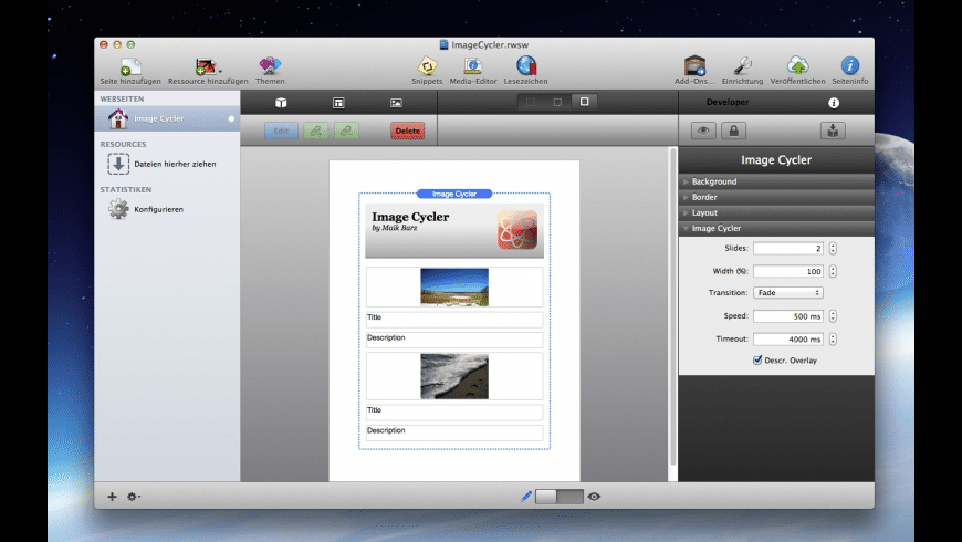 Image Cycler for Mac - review, screenshots