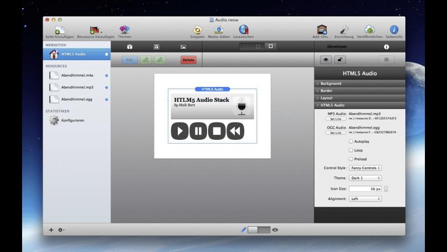 HTML5 Audio for Mac - review, screenshots