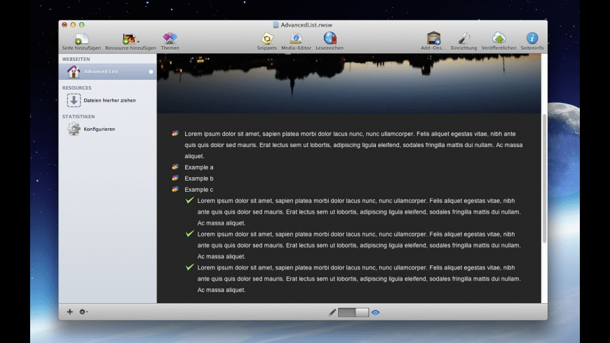 List Stack for Mac - review, screenshots