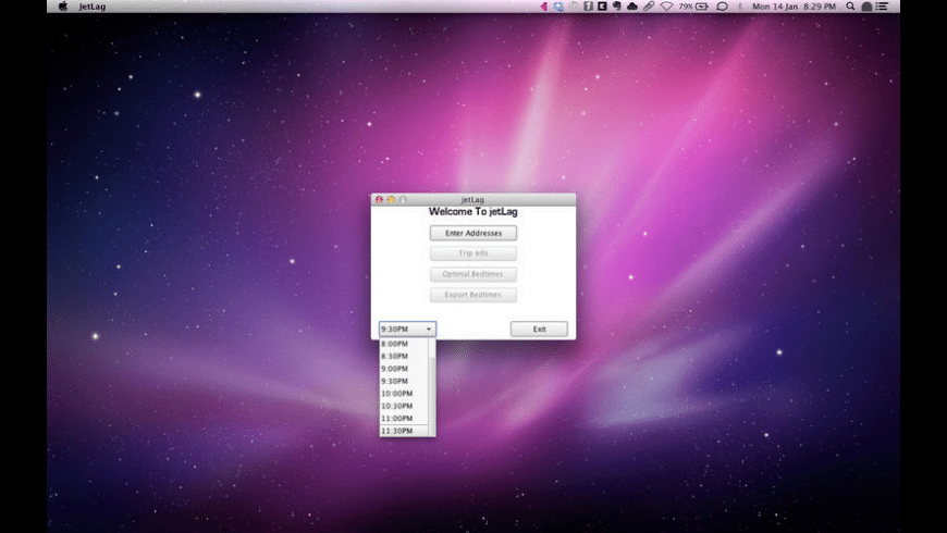 jetLag for Mac - review, screenshots