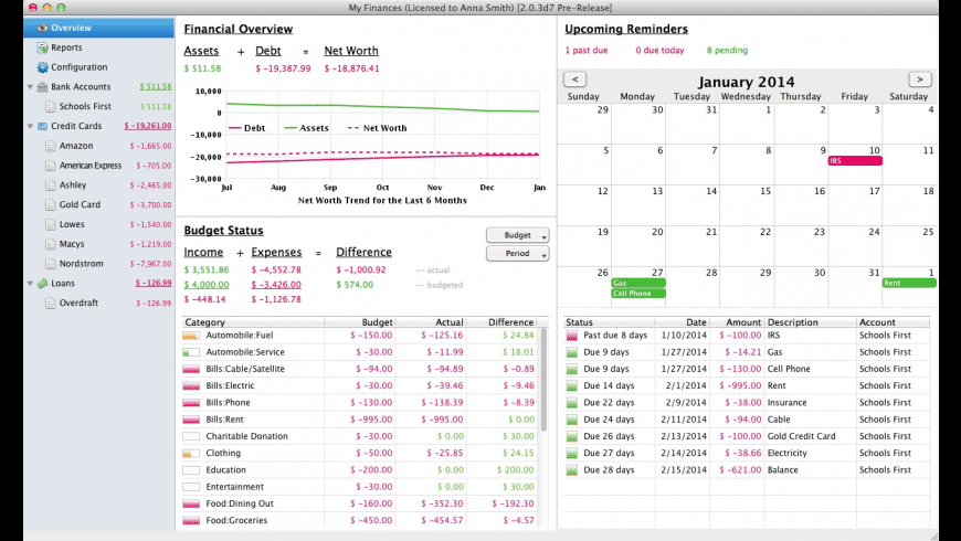 Fresh Finance (5-License Family Pack) for Mac - review, screenshots