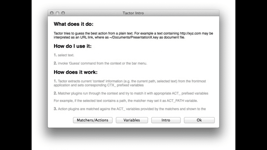 Tactor for Mac - review, screenshots
