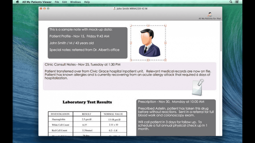 All My Patients Viewer for Mac - review, screenshots