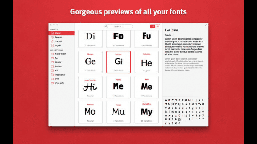 Fonts for Mac - review, screenshots