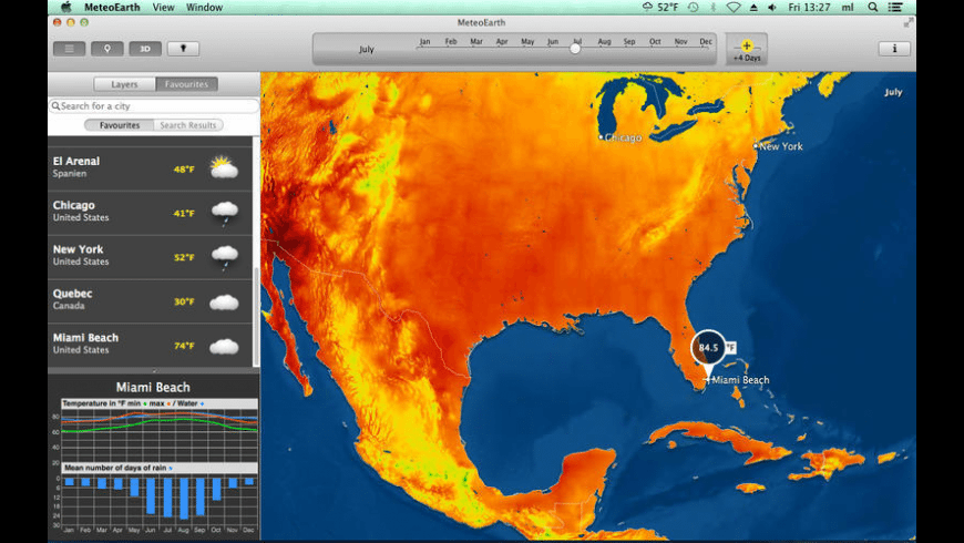 MeteoEarth for Mac - review, screenshots