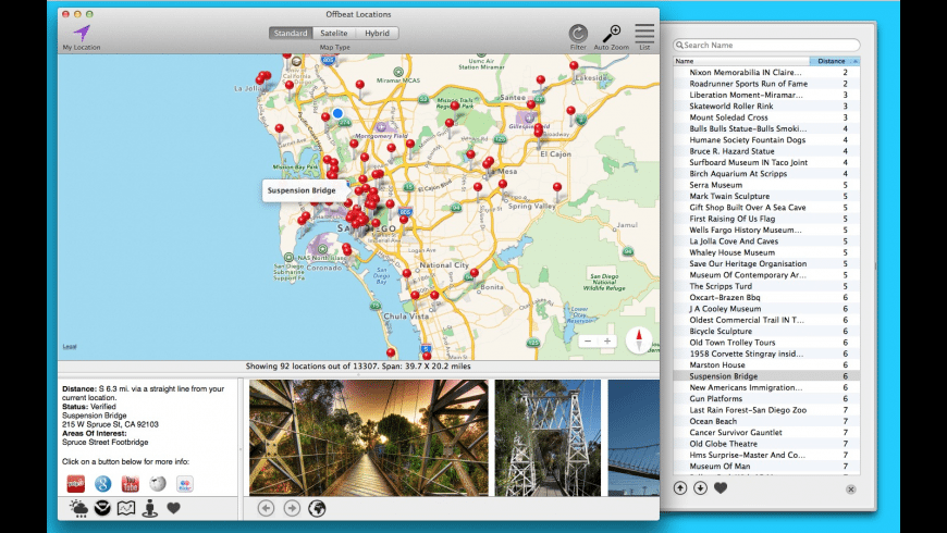 Offbeat Locations for Mac - review, screenshots