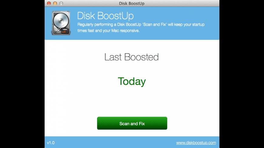 Disk BoostUp for Mac - review, screenshots