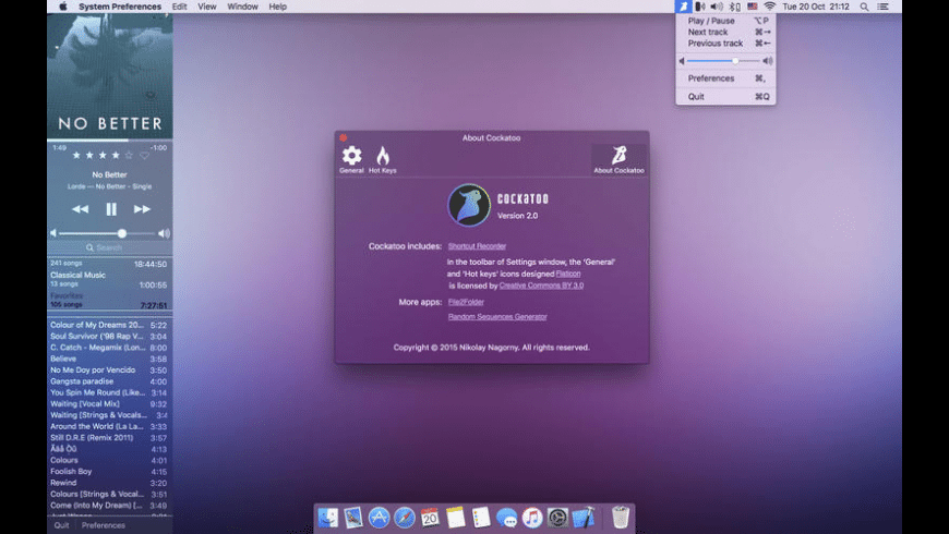 Cockatoo for Mac - review, screenshots