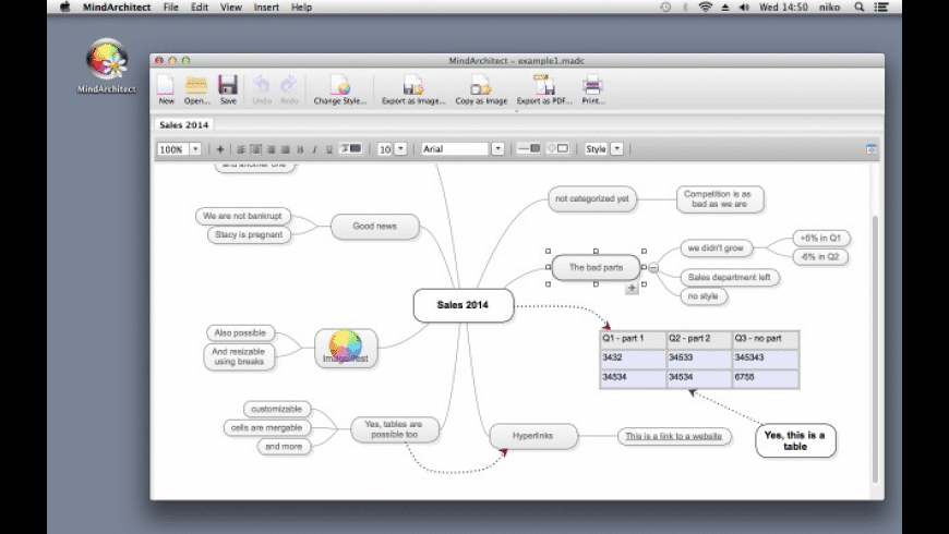 MindArchitect for Mac - review, screenshots