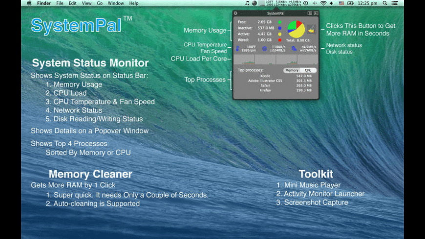 SystemPal for Mac - review, screenshots