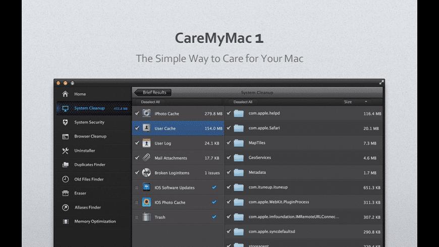 CareMyMac for Mac - review, screenshots