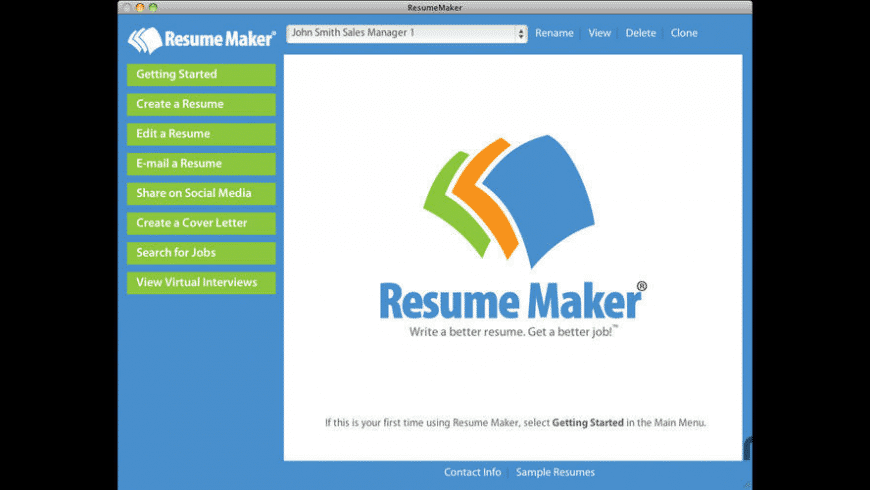 Resume Maker For Mac Free Download Review Latest Version