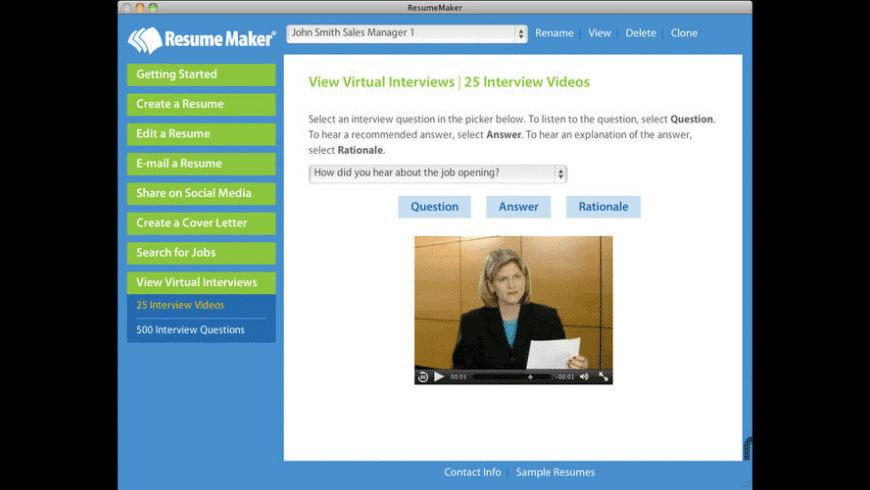 Resume Maker for Mac - review, screenshots
