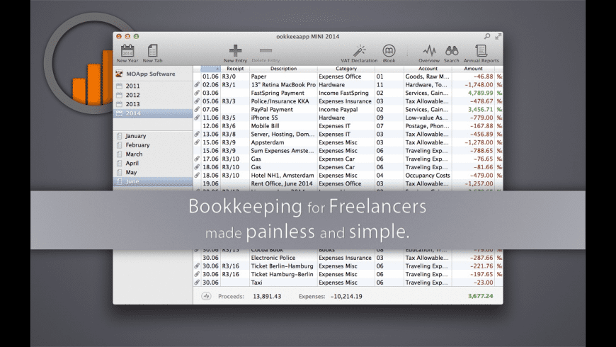 ookkeeaapp MINI for Mac - review, screenshots