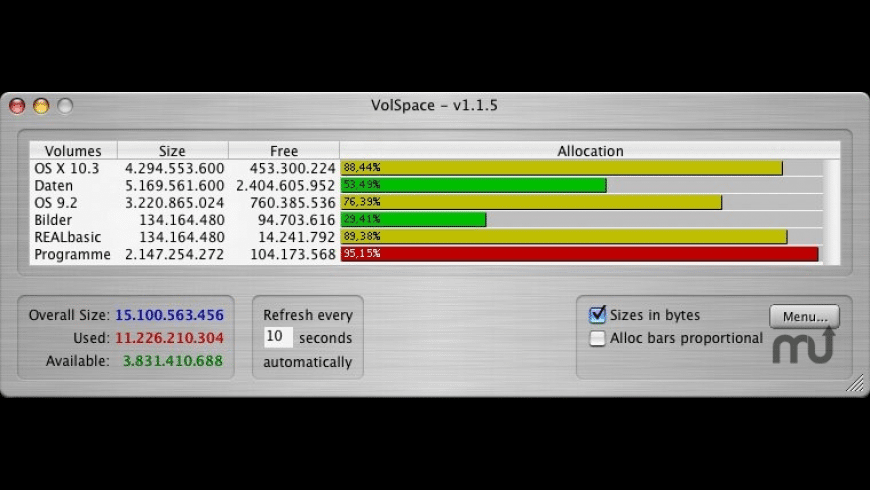 VolSpace for Mac - review, screenshots