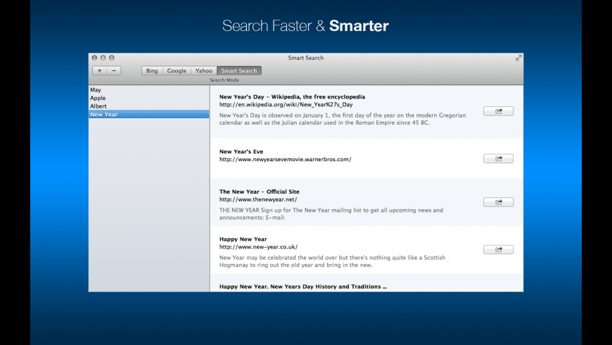 Smart Search for Mac - review, screenshots