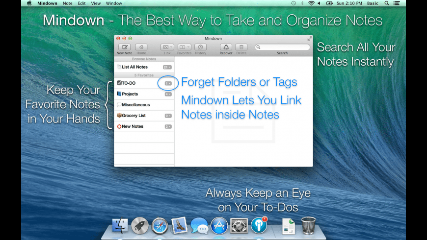 Mindown for Mac - review, screenshots