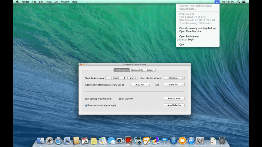 iScheduleTimeMachine for Mac - review, screenshots