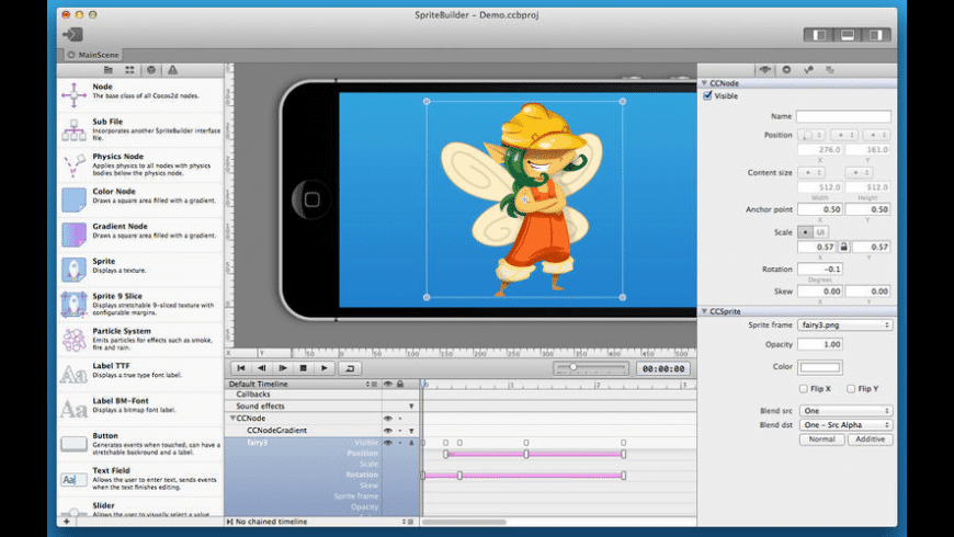 SpriteBuilder for Mac - review, screenshots