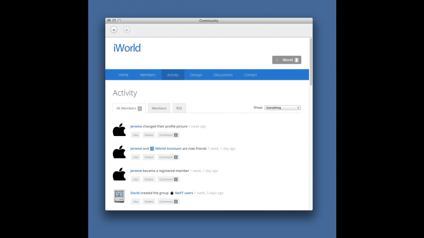 iWorld for Mac - review, screenshots