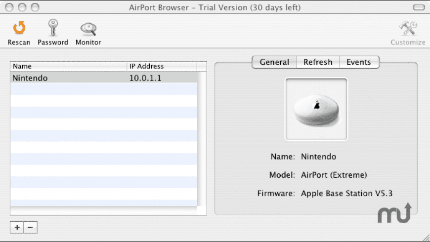 AirPort Monitor Utility for Mac - review, screenshots