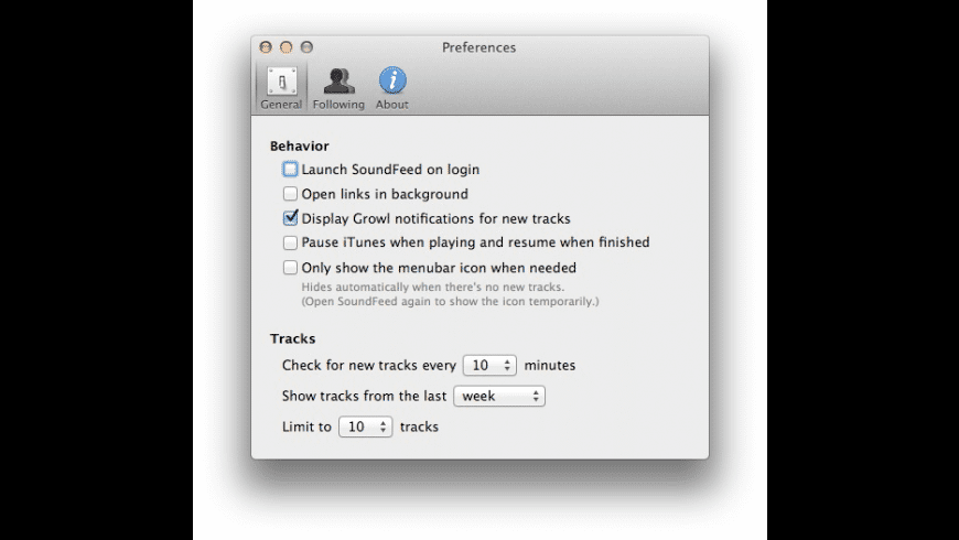 SoundFeed for Mac - review, screenshots