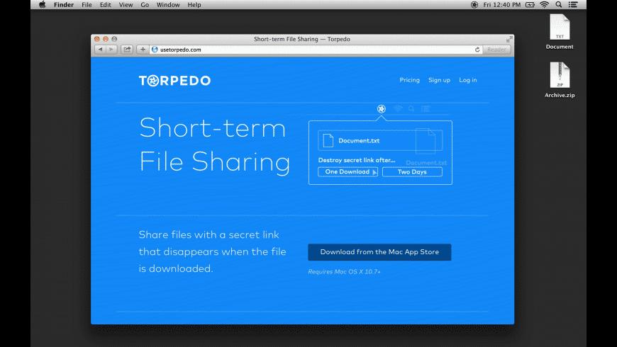 Torpedo for Mac - review, screenshots