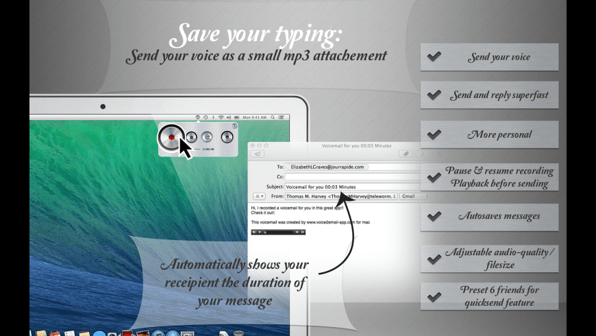 Voice2Email for Mac - review, screenshots