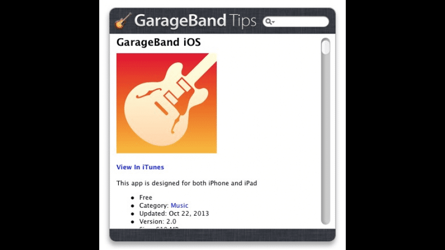 GarageBand Tips for Mac - review, screenshots