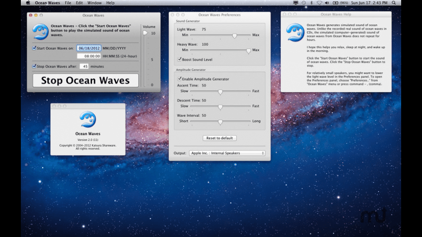 Ocean Waves for Mac - review, screenshots