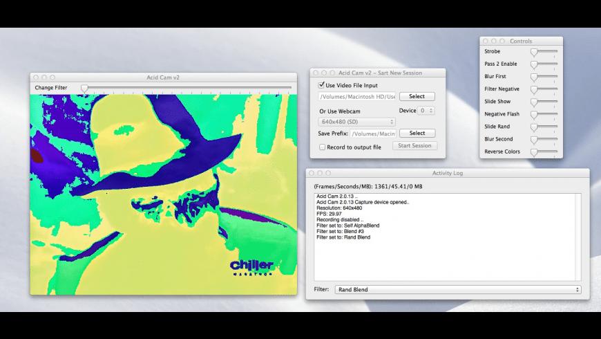 Acid Cam for Mac - review, screenshots